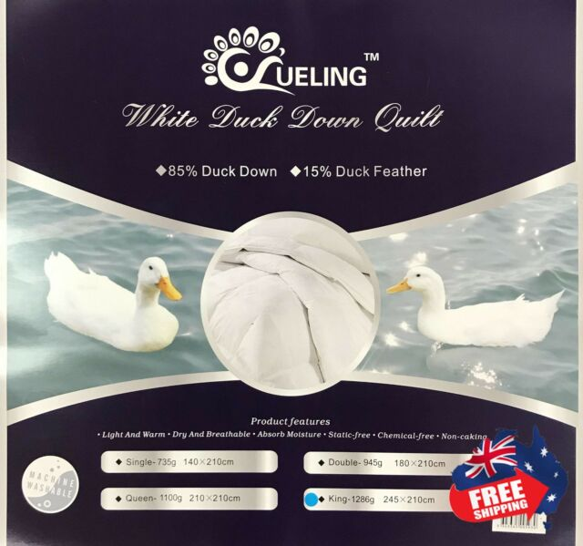 85% Duck Down & 15% Duck Feather Quilt winter Weight Promotion!