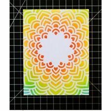 Sunburst Plastic Stencils Sun Burst Stencil Scrapbooking Embossing Templates Kit