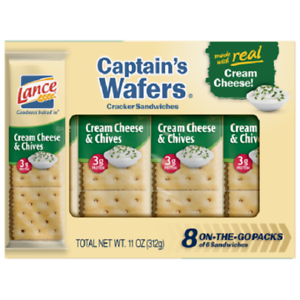 Lance Captain's Wafers Cream Cheese & Chives Sandwich Crackers
