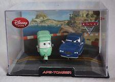 Disney Store Pixar Cars 2 Ape & Tomber Die Cast 1:43 Scale Hard Plastic Case NEW