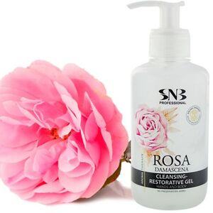 SNB-Cleansing-Restorative-Hands-amp-Body-Gel-Rosa-Damascena-250ml-with-Rose-Water
