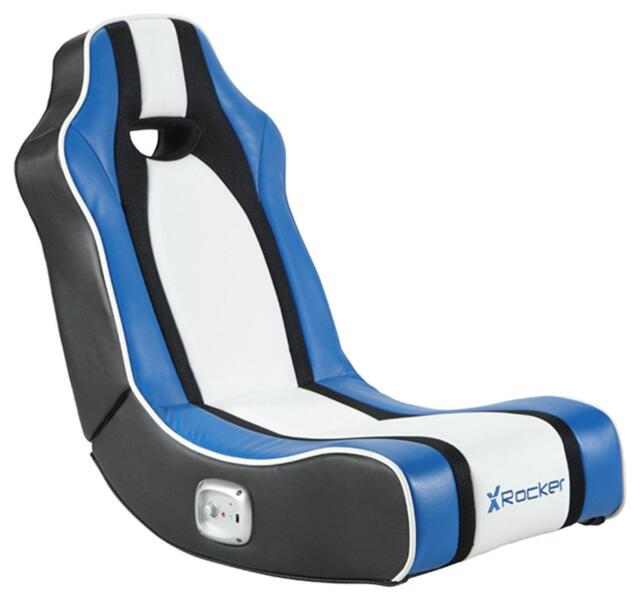 X Rocker Chimera Gaming Chair - Blue Gamer Seat Comfortable Playing Console Gift  sc 1 st  eBay & Kids Gaming Chair X Rocker Chimera Multiplatform 3 Years Ps4 Xbox ...
