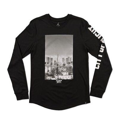 "air jordan sportswear /""city of flight/"" T-SHIRT BLACK US MENS SIZES 913023-010"