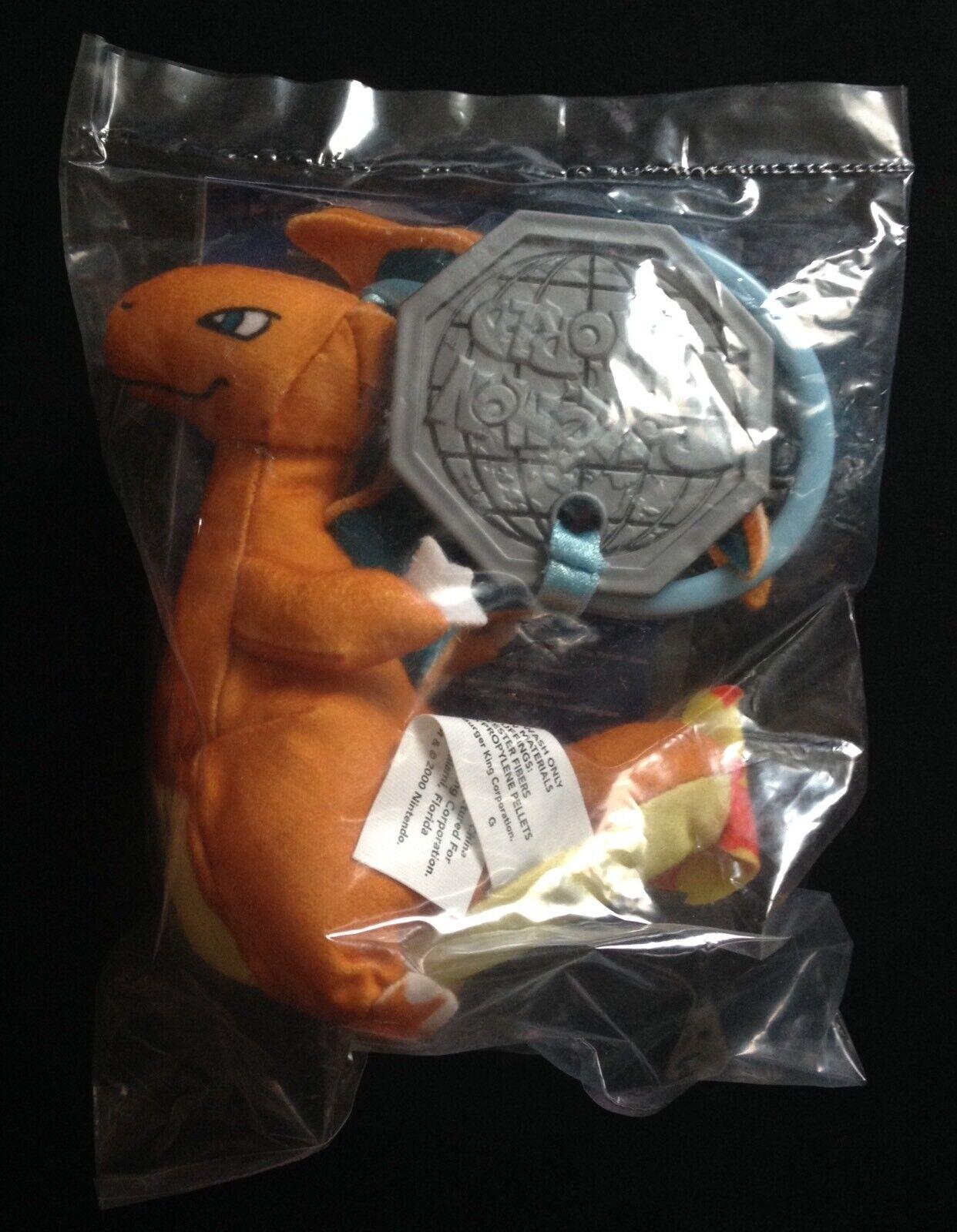 Charizard Burger King Plush Keyring Pokemon World 2000 SEALED -Save  Multi-buy