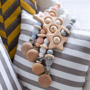 Crochet-Wooden-Beads-Soothers-Holder-Chain-Silicone-Beads-Pacifier-Clip-Holder
