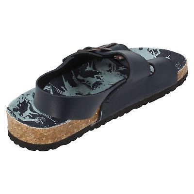 Jungen N0021 synthetisch braun und Marineblau Sandalen von JCDees