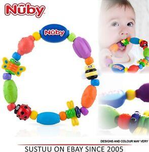 Nuby Käfer Eine Schleife Baby Beißring Massage Zahnfleisch Beruhigend & 100% Garantie Baby Pflege