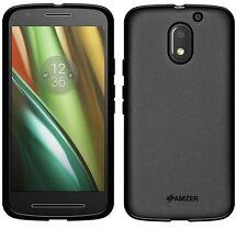 AMZER Black Pudding Matte TPU Skin Fit Case Cover For Motorola Moto E3 E 3rd Gen