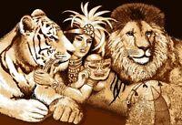 African Queen Jungle Princess Area Rug Modern Tiger Lion Big Cat Novelty Carpet