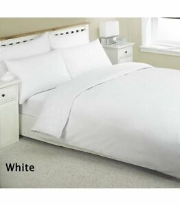 3-x-Double-Egyptian-Cotton-Flat-Sheets-in-White-LUXURY-HOTEL-QUALITY-LINEN