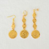 Coin Earring Set Drop/dangle Earrings Arabic Middle East Fashion 24k Gold Plated
