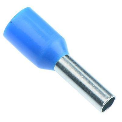 Twin Bootlace Ferrule 2.5mm Blue Pack 100