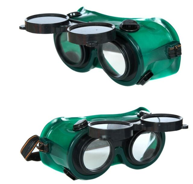 Welding Goggles Flip Up Rectangle Darken Glasses Cutting Grinding Protection AB