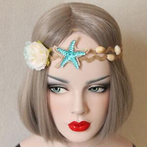 Mermaid-starfish-Flower-Cosplay-Hair-Headband-Princess-Party-Garland-Jewelry-Lei