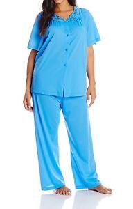 Shadowline-Women-039-s-Petals-Short-Sleeve-Pajama-76280