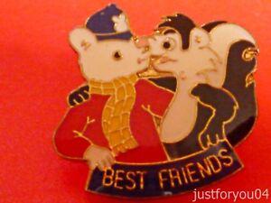 Official-Rupert-Bear-With-is-Best-Friend-Enamel-Pin-Badge-Blue-Helmet
