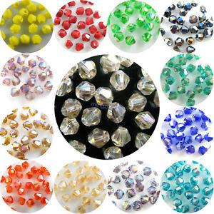 Hart Arbeitend Großhandel 200pcs 4mm Facettierten Kristall Glas Bicone Losen Spacer Perlen