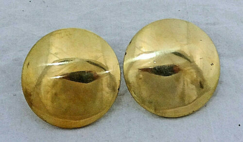 """Pair Solid Brass Conchos Bridle Loop Back 1 5//8/"""" Horse Tack High Polish Rosettes"""