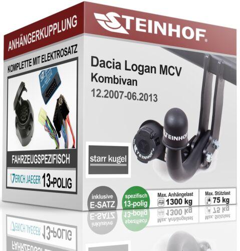 Anhängerkupplung fest Für Dacia LOGAN MCV KOMBIVAN 2007-2013+E-SATZ 13p SPEZ.