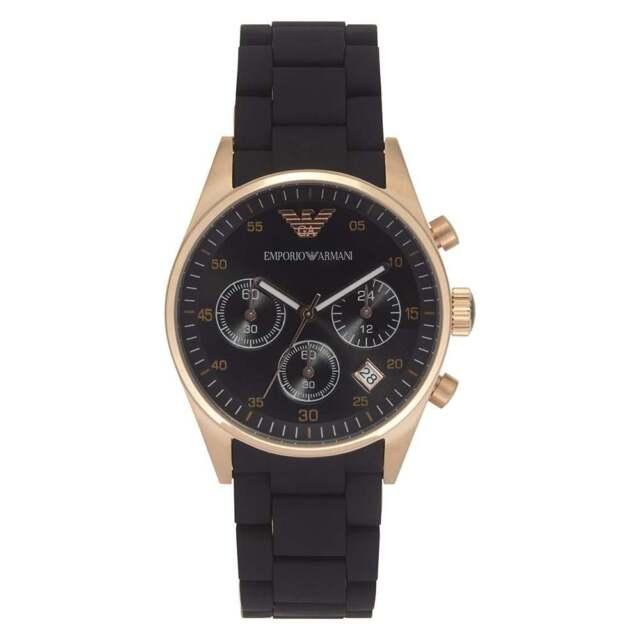9bb8bcd144 Emporio Armani AR5906 Women's Chronograph Watch - Black & Gold for ...