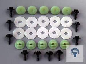 Set-Unterfarschutz-Motorschutz-Reparatur-Kit-Clips-Schraube-fuer-Ford