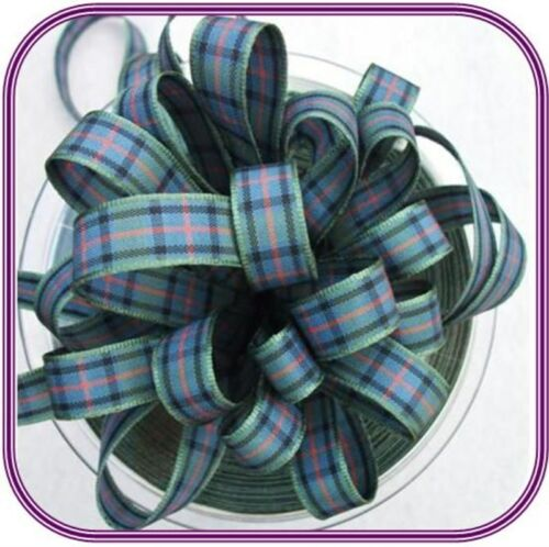 Berisfords 10mm Tartan Ribbon Choice of 17 Colours
