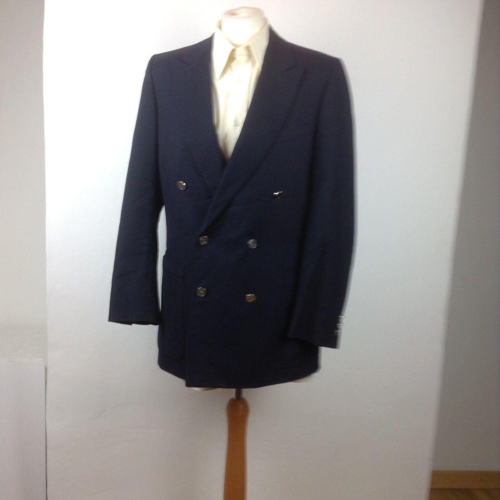 Veste Bleu Marine Dior Laine Homme Christain Vintage Blazer azqCf