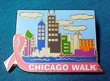 Chicago Walk Pin Breast Cancer Awareness Pink Ribbon Lapel Tack New