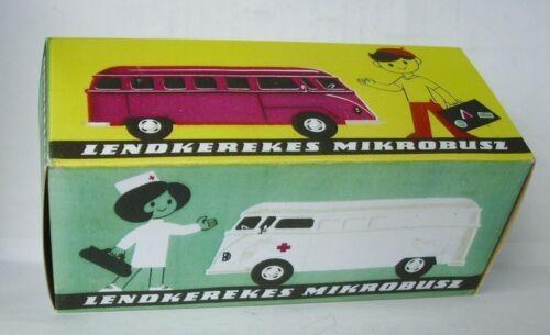 Repro Box Flimlemez Foreign,Lendkerekes Auto für VW Bus und Ambulance Blechspielzeug