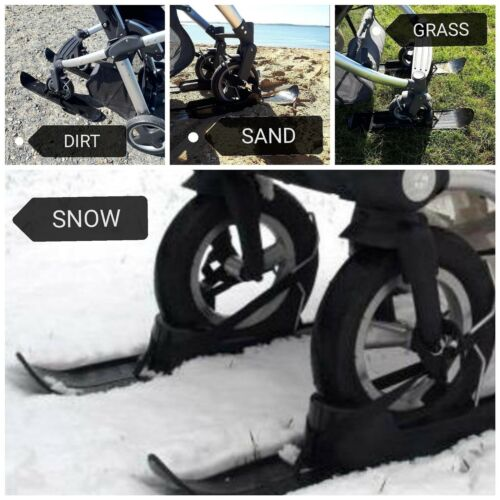 universal FREE My Buggy Buddy Clip Stroller Winter Snow Skis for Baby Buggy