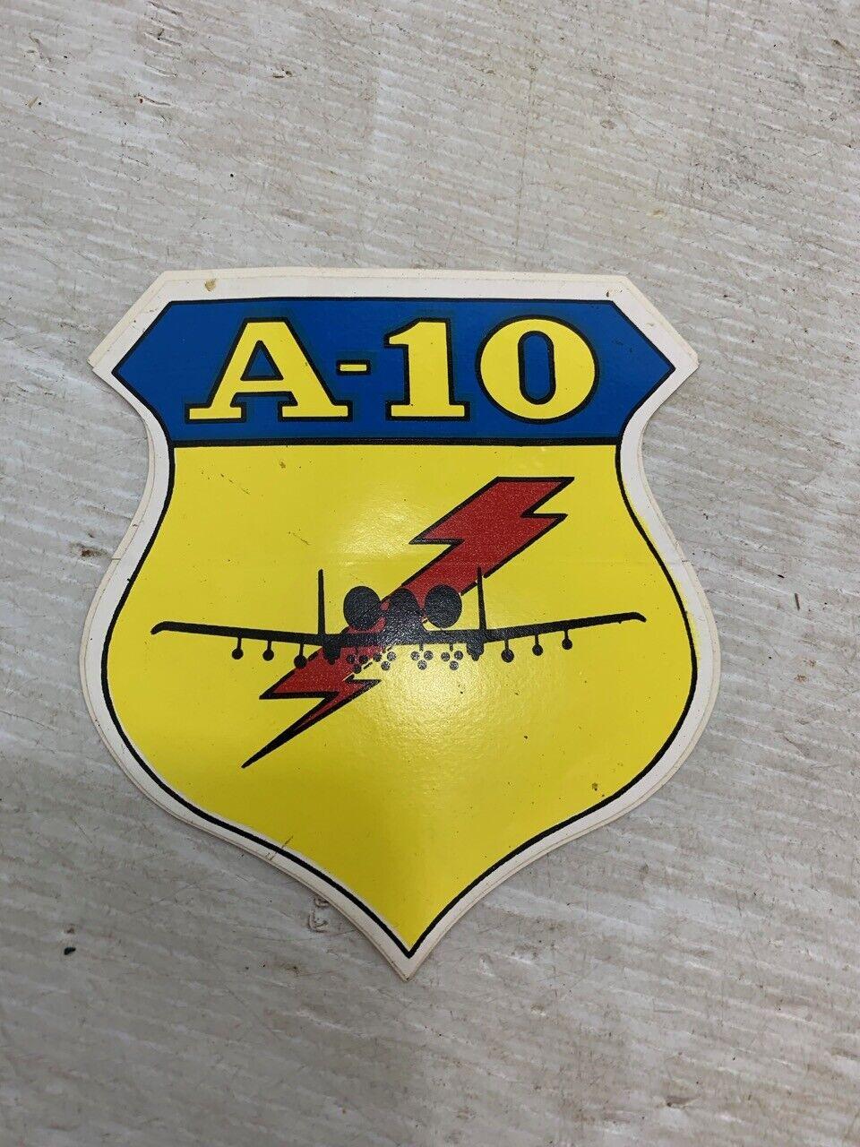 4 x A 10 Thunderbolt Jet Plane Vinyl Decal Sticker Laptop Truck Window Tablet