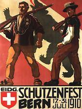 GIANT PRINT POSTER GUN SHOOTING FESTIVAL BERNE SWITZERLAND SWISS ARMY PDC088