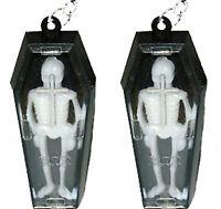 Funky Vintage Gothic Coffin Skeleton Earrings Steam Punk Vampire Costume Jewelry