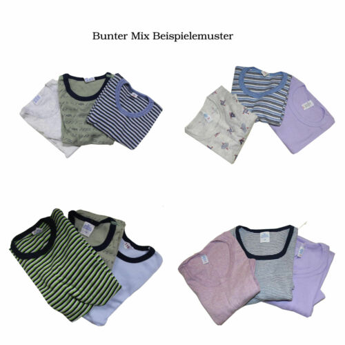 3x Kinder Unterhemden Gr 92-176  T-Shirt Unterwäsche Baumwolle Made in Germany