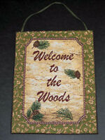Deer Creek Welcome To The Woods Tapestry Bannerette Wall Hanging