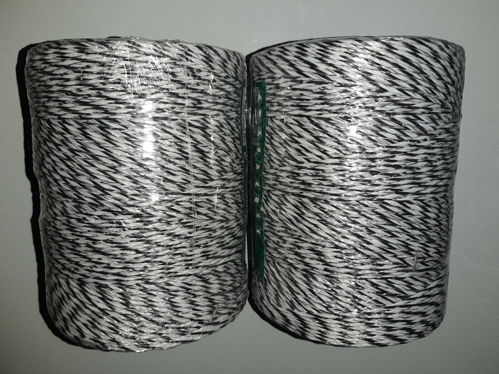 Poly de alambre 500m X 3mm 9 Strand eléctrico valla de alambre x 2 Rollos