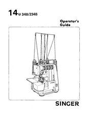 SINGER Ultralock 14U234B 4-spool Serger Sewing Machine Works