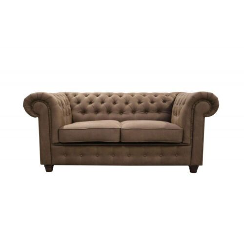 Chesterfield Buro Office Sofa Couch Textil Design Sitz Polster