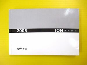 2005 saturn ion owners manual