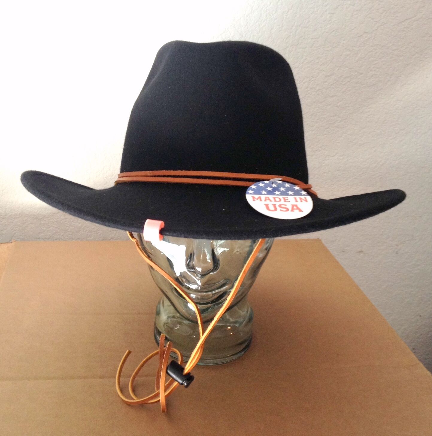 Stetson Water - Repellent Crushable Hat  - Water ALTON - Ear Flaps -  Black - Size L aa82f8