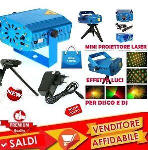 Mini Proiettore Laser Effetto Luci.Dettagli Su Mini Proiettore Laser Effetto Luci Per Disco E Dj Discoteca Feste Party New Mode