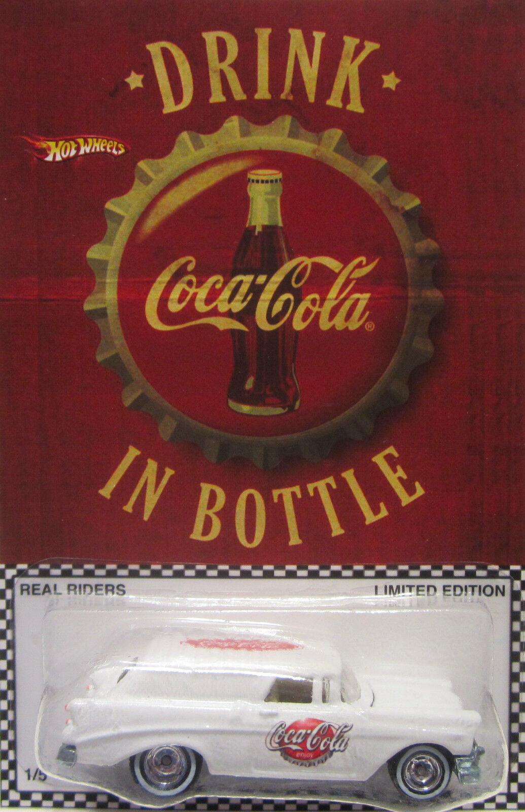 Hot Wheels Personnalisé '56 Chevy Nomad Coca-Cola Real Riders Limité