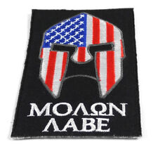 Molon Labe USA Flag Spartan Patch Embroidered FAST USA SHIPPING