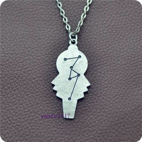 Doctor Who gun Metal Lady Key Charm pendant necklace Cosplay