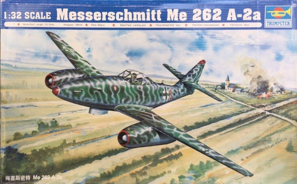 venta con descuento Trumpeter Messerschmitt Me 262 262 262 a-2a Ref 02236  venta al por mayor barato