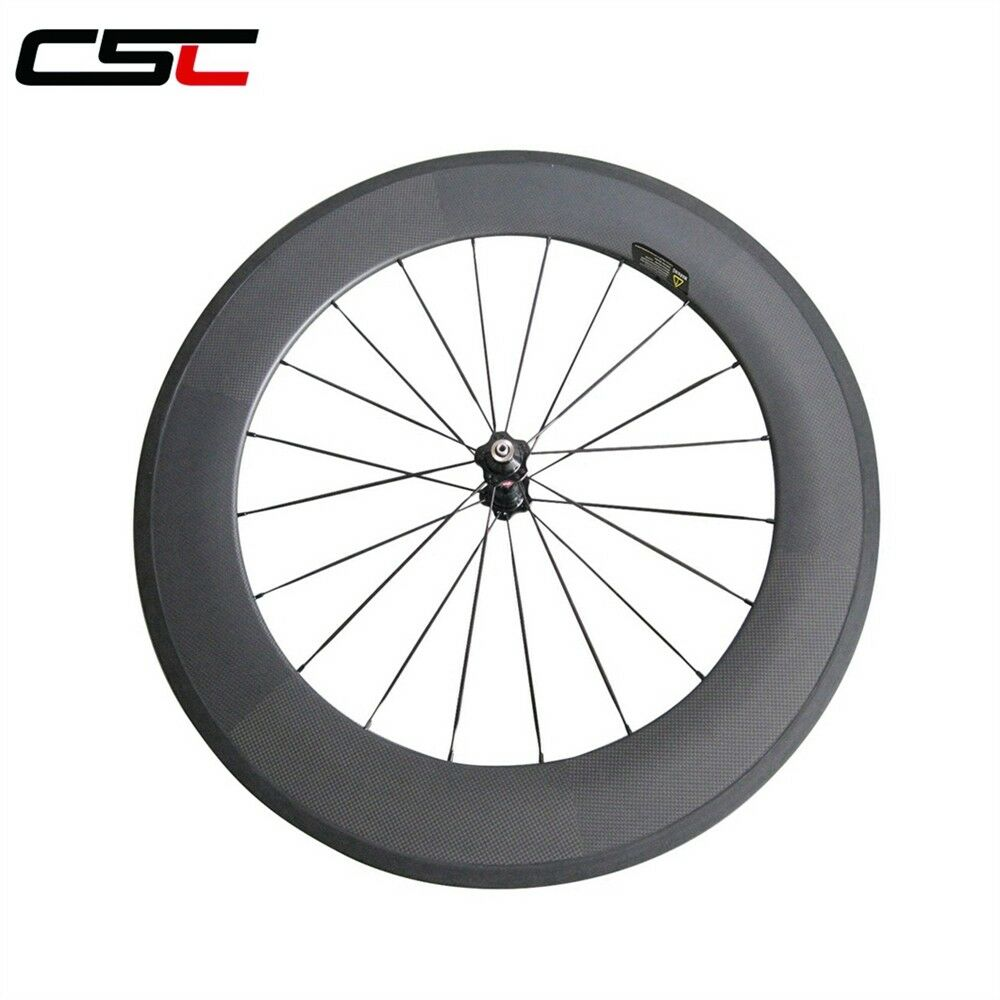 CSC 700C 88mm Clincher carbon road bike rear wheel only Novatec hub