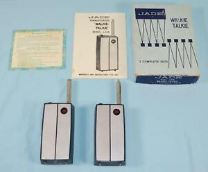 * Vintage Walkie-Talkie Set from Jade, Model J-634 with Box and Owners Manual