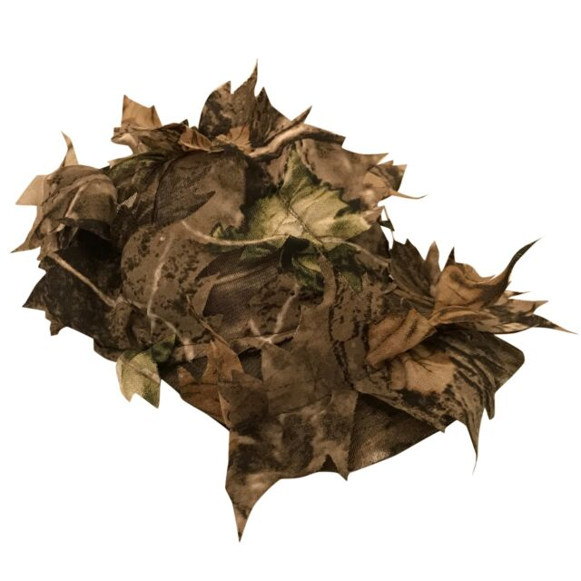 NEW CAMOUFLAGE CAP HAT CAMO GHILLIE SHOOTING STALKING PIGEON HEDGE LEAVES WOODS