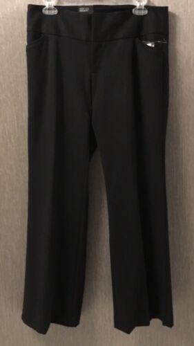 10p Nwt neri Pantaloni di 42 larghi Pantaloni Slacks larghi donne delle Size Inc WHwnBFPqn