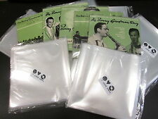 """100 pcs. 7"""" Plastic Vinyl Record SLEEVES COVERS SP Outer ♫ Clear&Thin!"""